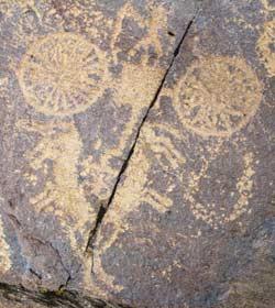 Chariot Petroglyph from upper Tibet