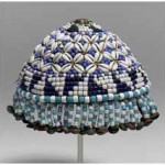 Kuba titleholder's hat - made with shell, ivory beads and copper