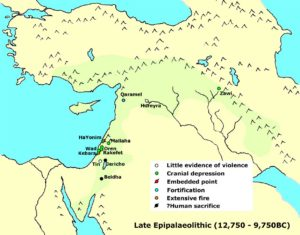 Possible signs of conflict in the Late Epipalaeolithic (Natufian).