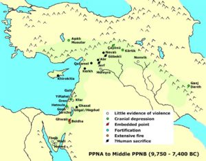Possible signs of conflict during the PPNA and Middle PPNB